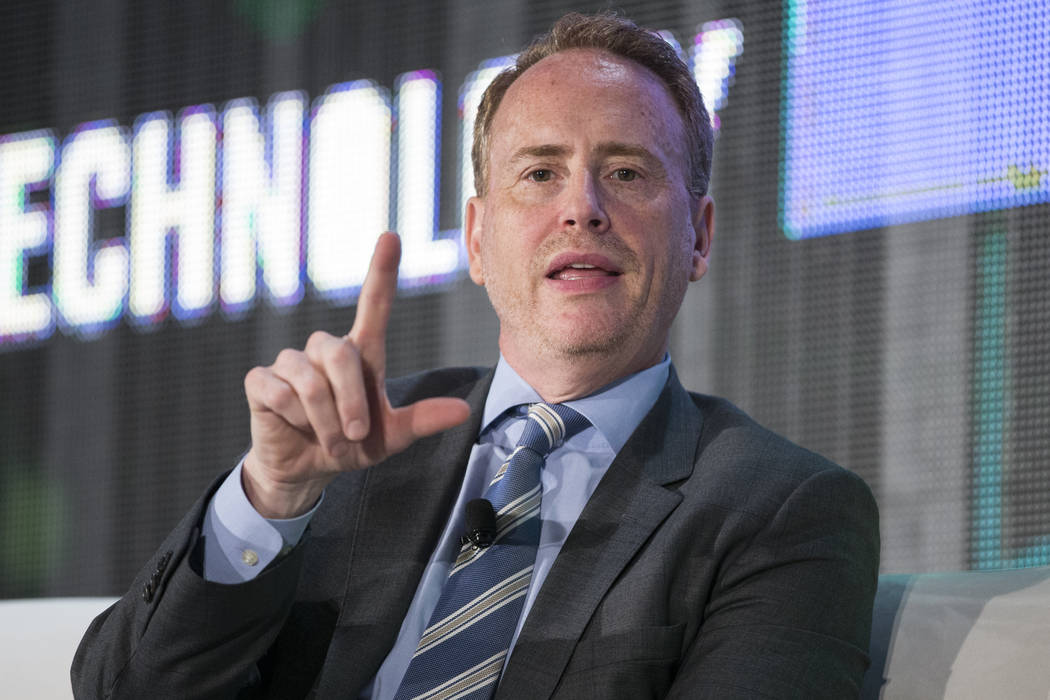 NBC Chairman Robert Greenblatt during an interview in the National Association of Broadcasters conference at the Las Vegas Convention Center on Tuesday, April 25, 2017, in Las Vegas. Erik Verduzco ...