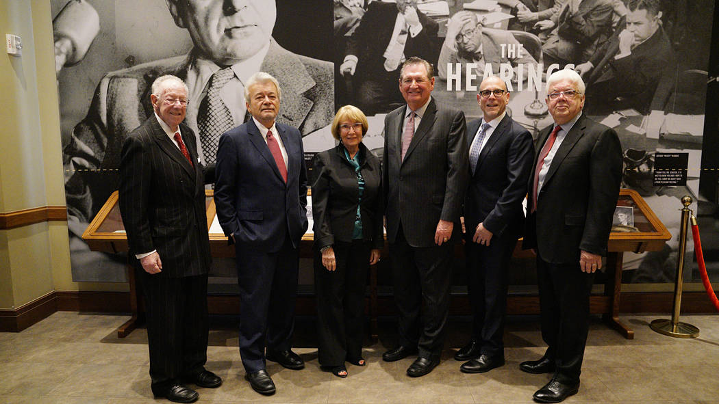 The players at the time included then-defense attorney Oscar Goodman, newsman George Knapp, Linda Faiss, Bob Miller, and retired newsman Bob Stoldal. Second from the right is Jonathan Ullman, CEO  ...