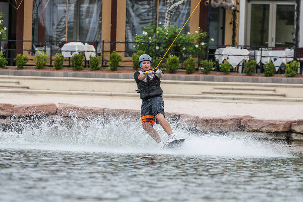 (Josh Metz) Cable wakeboarding is now available at the Lake Las Vegas community's private lake. A barbecue and discounted pricing is available today for the exhilarating sport and other water am ...