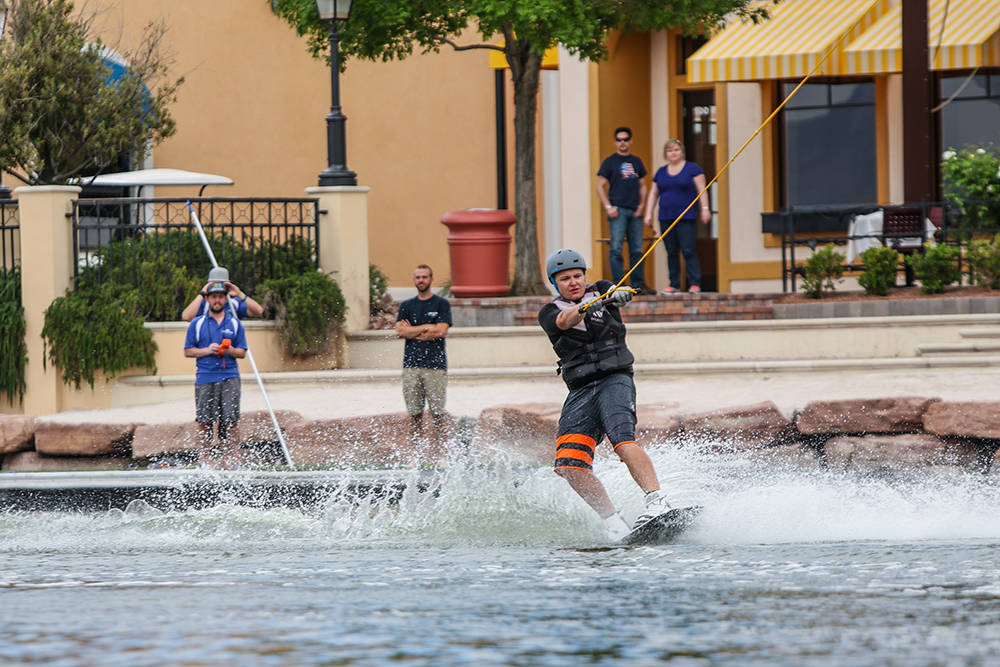 Cable wakeboarding is now available at the Lake Las Vegas community's private lake. A barbecue and discounted pricing is available today for the exhilarating sport and other water amenities. (Jo ...