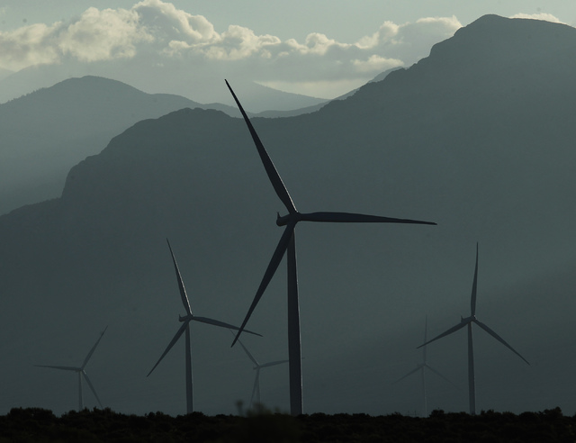 The Spring Valley Wind Farm as seen in the north Spring Valley near Great Basin National Park in eastern Nevada on Thursday morning, Aug. 14, 2014. Jason Bean/Las Vegas Review-Journal