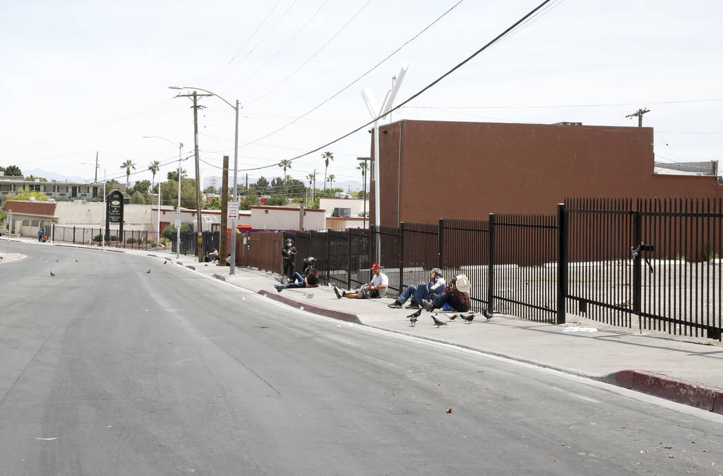 Foremaster Lane, between Main Street and Las Vegas Boulevard on Wednesday, April 26, 2017, in Las Vegas. The city of Las Vegas has been acquiring land on the south side of Foremaster Lane. Bizuaye ...