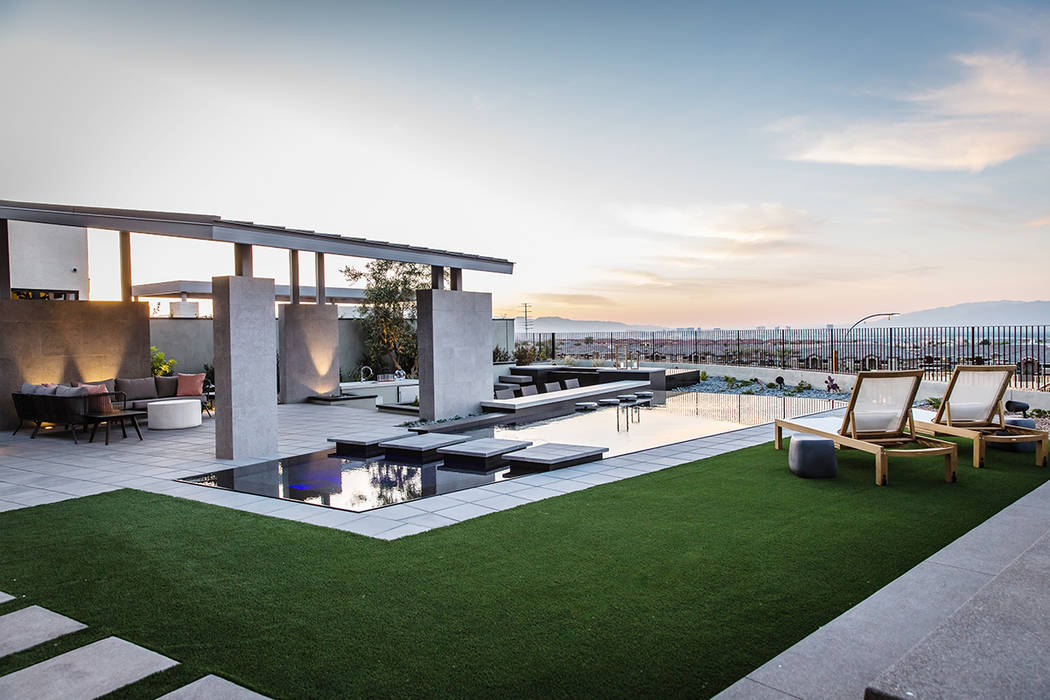 Pardee Homes' Axis is under construction on 35 acres at 2239 Sky Pointe Ridge Drive in Henderson and will feature 74 homes with prices ranging from the $800,000s to more than $1 million. (Pardee H ...