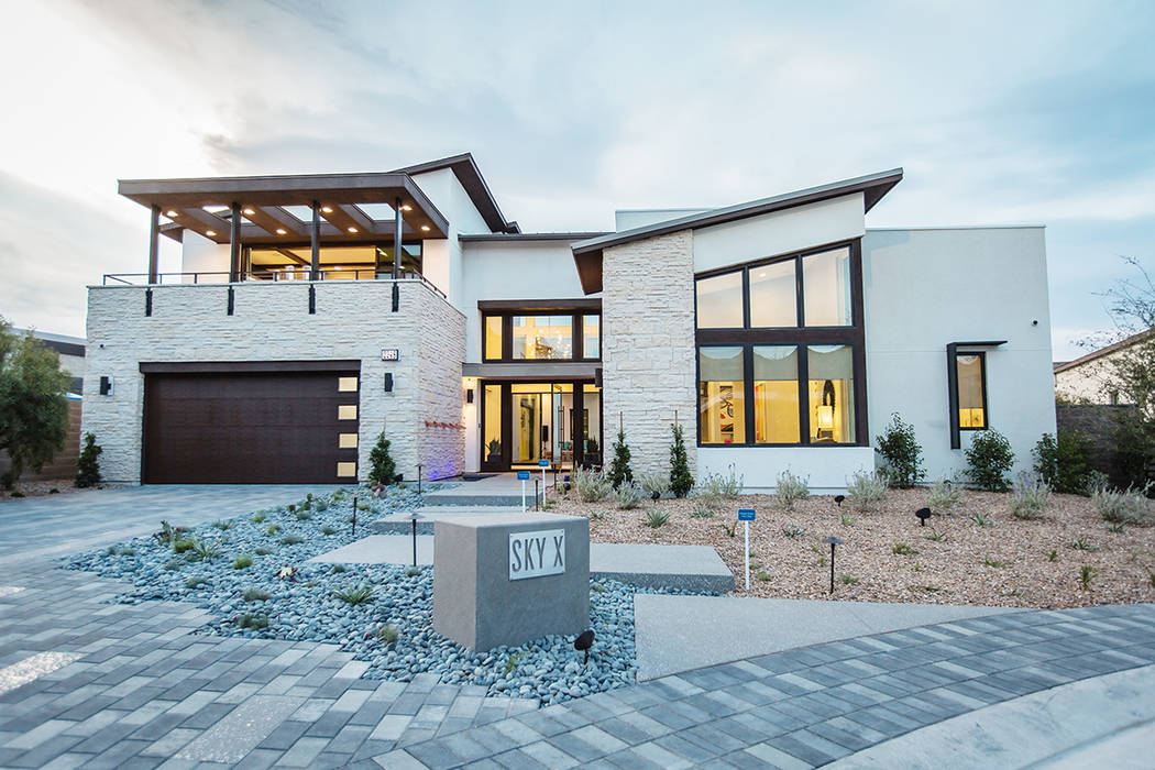 Sky X is a two-story home that is built around a central courtyard creating a main living area in the center of the home. (Pardee Homes)