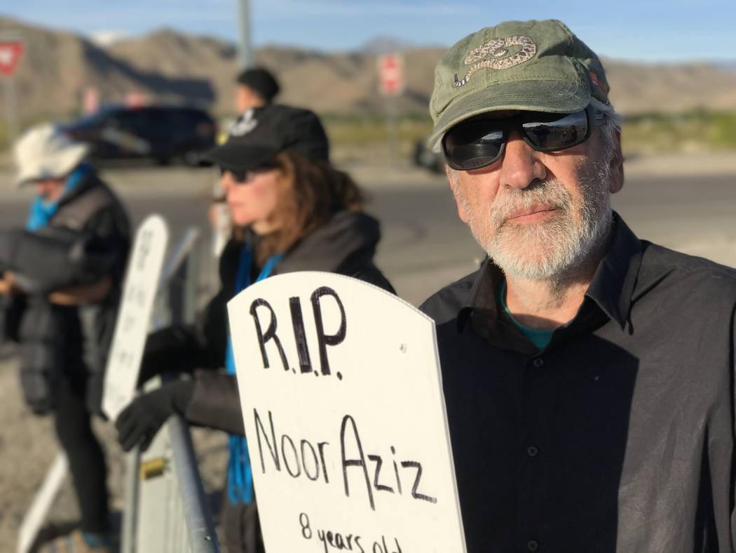 University of Nevada, Reno anthropology professor Joseba Zulaika outside Creech Air Force Base, Wednesday, April 26, 2017. Keith Rogers Las Vegas Review-Journal