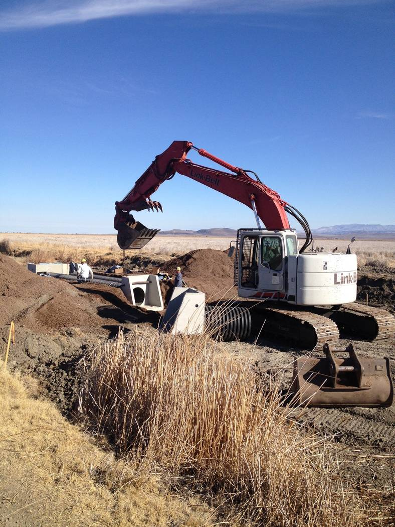 Ducks Unlimited provided funding for this and other conservation projects that enhance wetlands for the benefit of migratory waterfowl that pass through Nevada on their annual migration. (Ducks Un ...