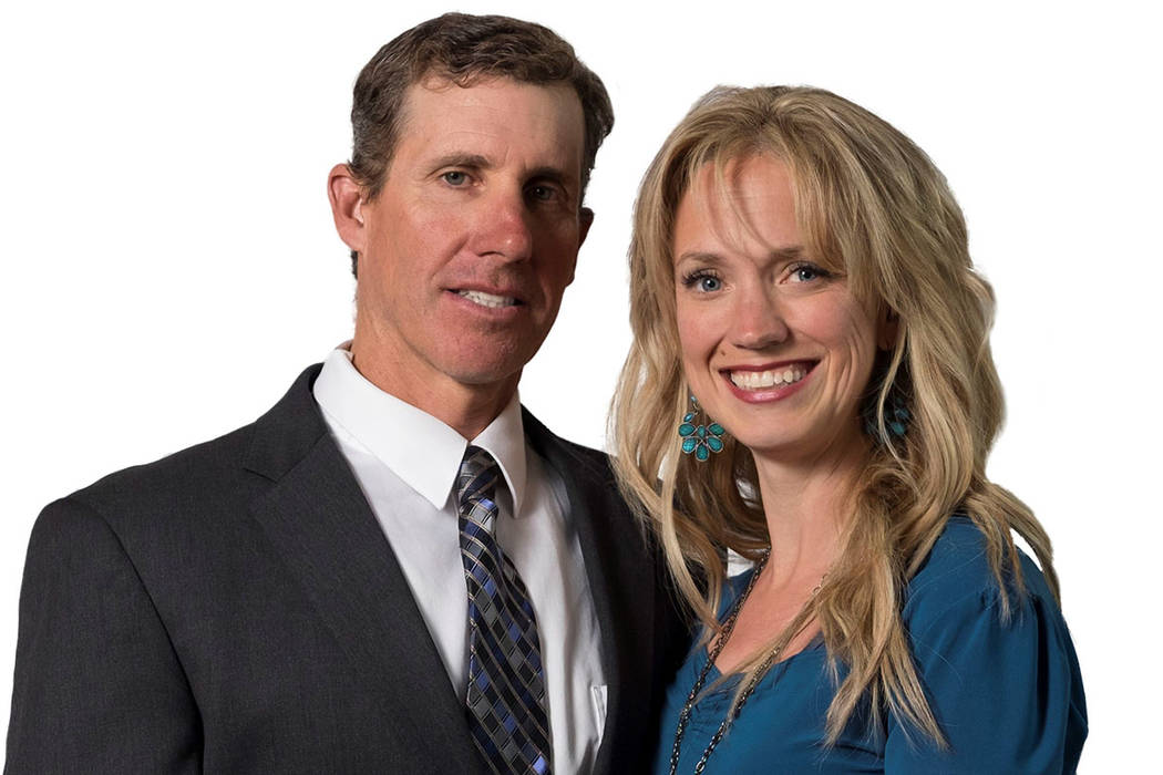 Jared Fisher, left, with his wife Heather, has announced his candidacy for governor of Nevada. The Republican owns Las Vegas Cyclery and Escape Adventures Inc. Photo courtesy Jared Fisher