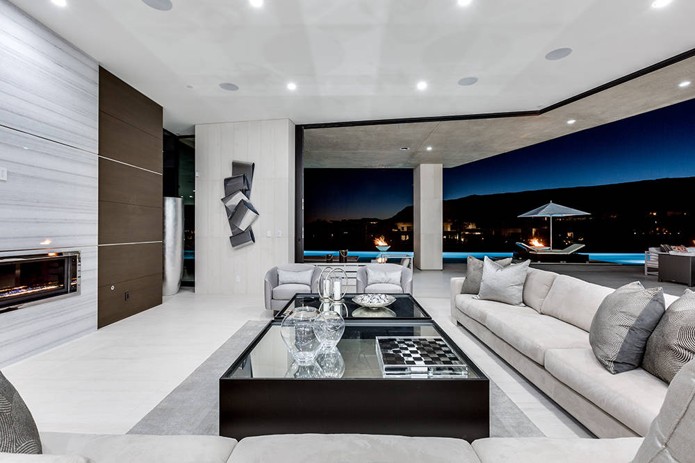 The home has views of the Strip. (Growth Luxury Homes)