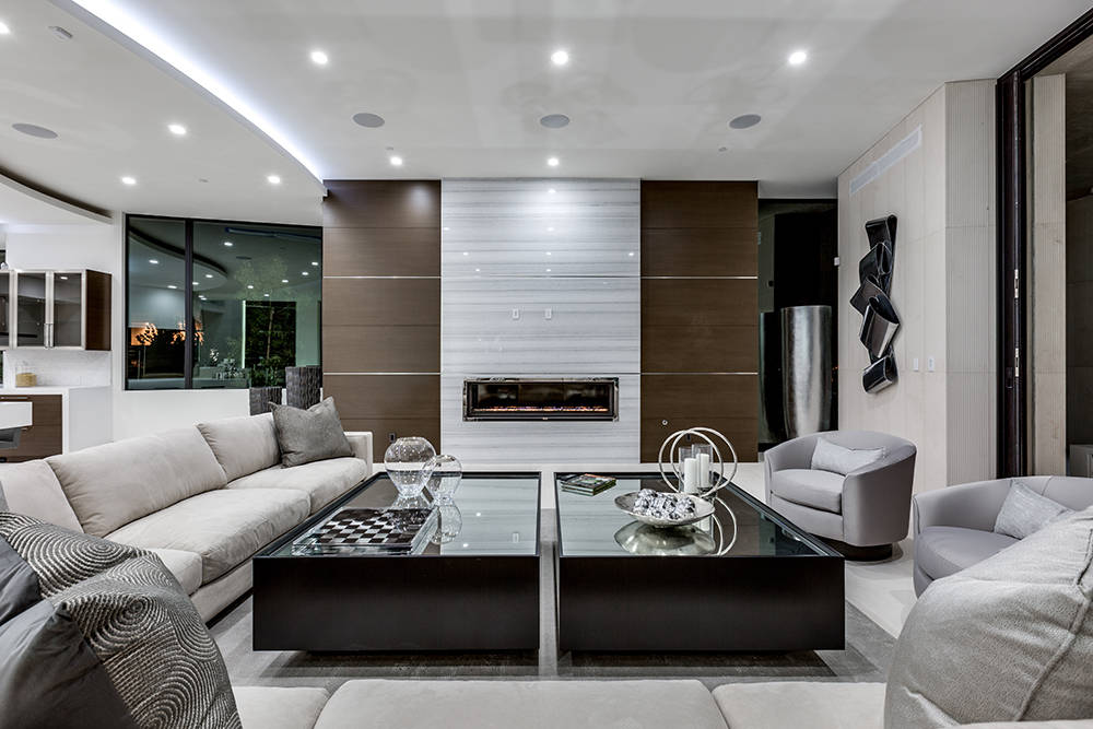 There are seven fireplaces in the home. (Growth Luxury Homes)