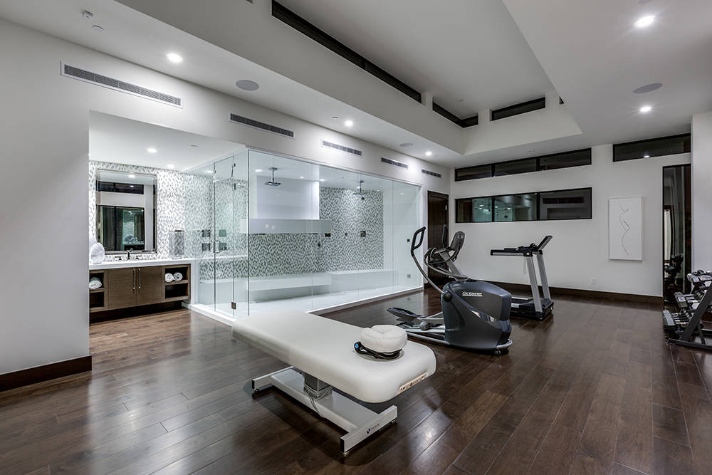 The gym. (Growth Luxury Homes)