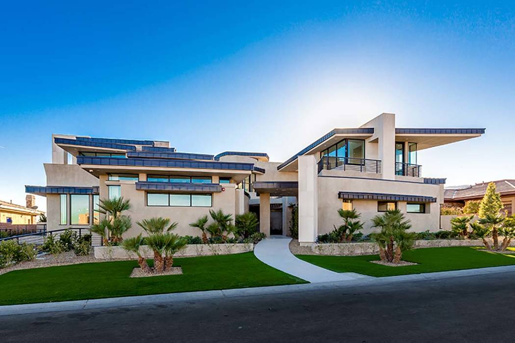 This home in The Ridges in Summerlin is a net-zero home built by Growth Luxury Homes. It's been listed for $12 million. (Growth Luxury Homes)