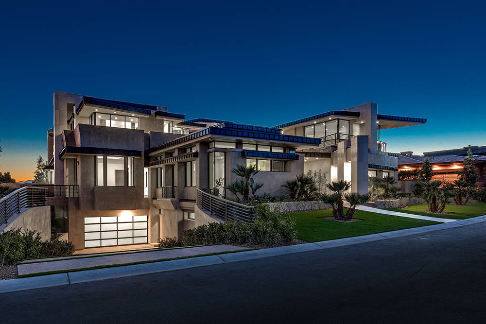 The home in The Ridges in Summerlin is listed for $12 million. It was built by Growth Luxury Homes as a net-zero home. (Growth Luxury Homes)