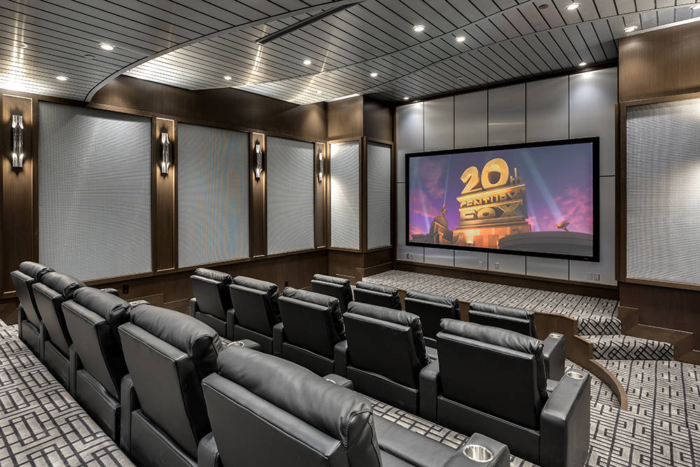 The home has a 15-seat theater. (Growth Luxury Homes)
