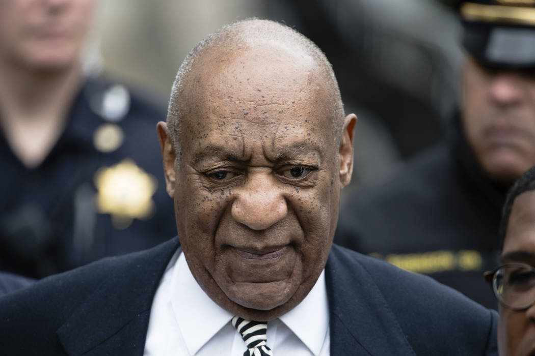 Bill Cosby departs after a pretrial hearing in his sexual assault case at the Montgomery County Courthouse in Norristown, Pa. on April 3, 2017. Matt Rourke/AP