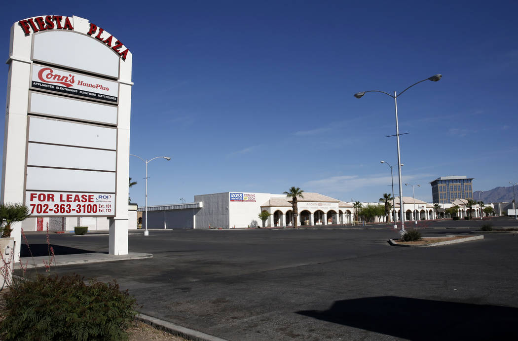 Fiesta Plaza on 2201 Civic Drive on Thursday, April 27, 2017, in North Las Vegas. La Bonita supermarket will move into an empty apace at Fiesta Plaza next to Conn's furniture. Bizuayehu Tesfaye La ...