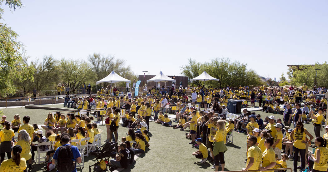 About 700 people attend the Walk Against Hate at the Springs Preserve in Las Vegas, Sunday, April 30, 2017. The event is a fundraiser held by the Anti-Defamation League. Elizabeth Brumley Las Vega ...