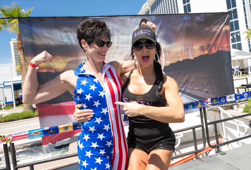 Helene Neville and Jennifer Romas at Westgate on Saturday, April 22, 2017, in Las Vegas. (Erik Kabik)