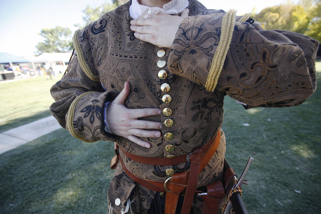 Jacob Reynolds shows off his Renaissance doublet at the Las Vegas Highland Games on Sunday, April 30, 2017, at Floyd Lamb Park in Las Vegas. Rachel Aston Las Vegas Review-Journal @rookie__rae
