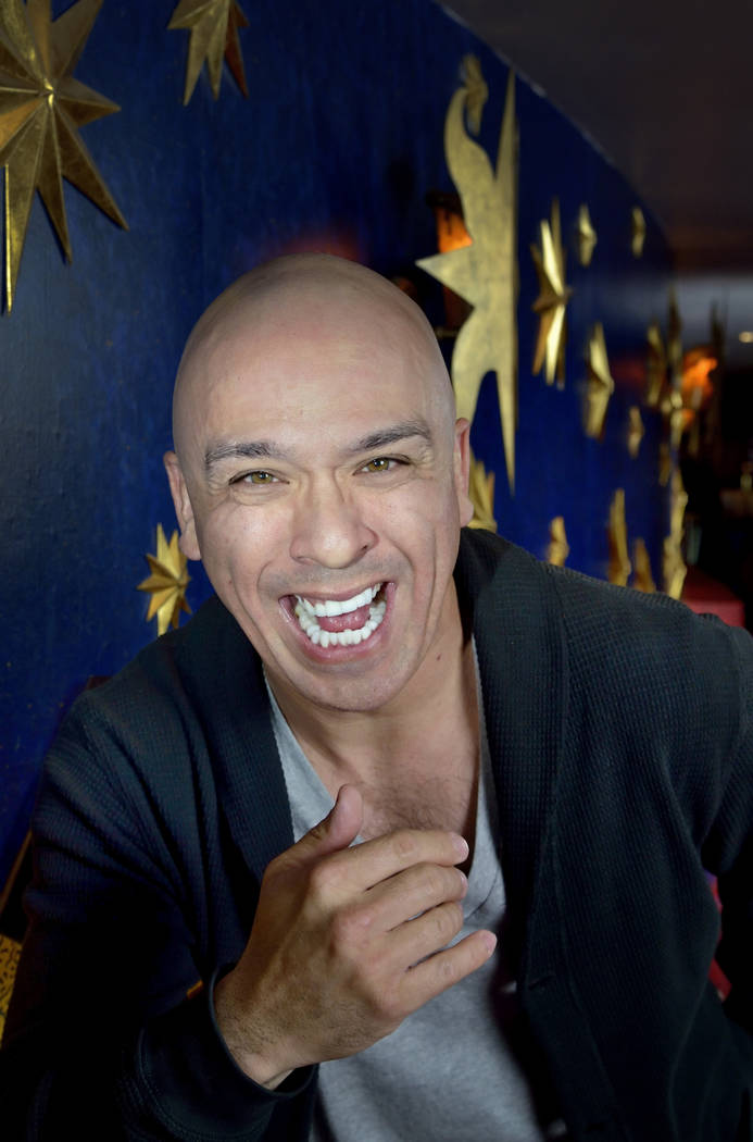 Comedian Jo Koy is shown at the Mystere Theater in the Treasure Island hotel-casino at 3300 Las Vegas Blvd. S. in Las Vegas on Tuesday, Feb. 17, 2015. (Bill Hughes/Las Vegas Review-Journal)