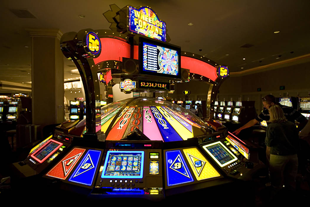 International Game Technology's Wheel of Fortune machine at Treasure Island in 2007. (K.M. Cannon/Las Vegas Review-Journal)