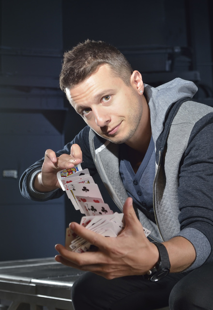 Magician Mat Franco is shown in the Crown Theater at the Rio hotel-casino at 3700 W. Flamingo Road in Las Vegas on Friday, July 17, 2015. (Bill Hughes/Las Vegas Review-Journal)