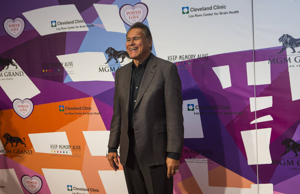 Former Oakland Raiders quarterback Jim Plunkett on the red carpet before Keep Memory Alive's 21st annual Power of Love gala, raising money for Cleveland Clinic Lou Ruvo Center for Brain Health's p ...