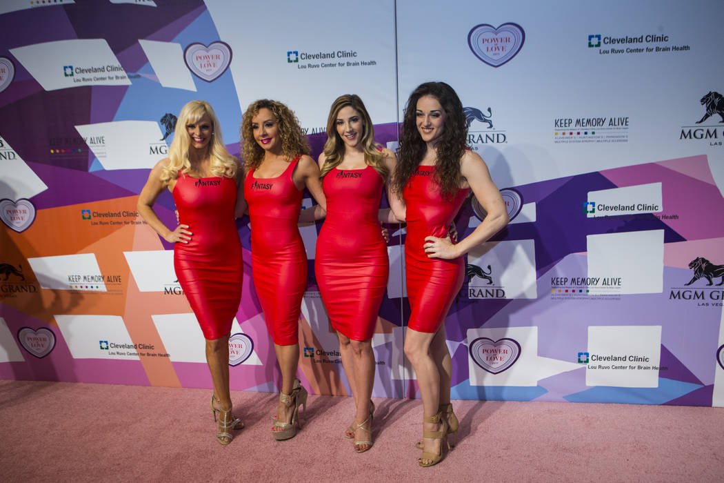 Performers with Fantasy pose on the red carpet before Keep Memory Alive's 21st annual Power of Love gala, raising money for Cleveland Clinic Lou Ruvo Center for Brain Health's programs and service ...