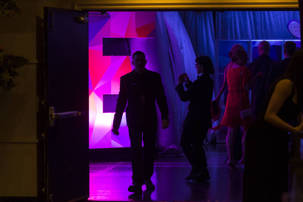 Attendees arrive for Keep Memory Alive's 21st annual Power of Love gala, raising money for Cleveland Clinic Lou Ruvo Center for Brain Health's programs and services, at the MGM Grand Garden Arena  ...