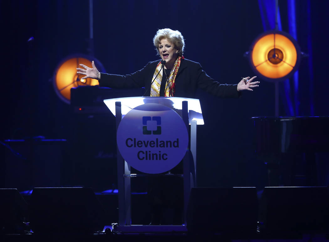 Las Vegas Mayor Carolyn Goodman during Keep Memory Alive's 21st annual Power of Love gala, raising money formCleveland Clinic Lou Ruvo Center for Brain Health's programs and services, at the MGM G ...