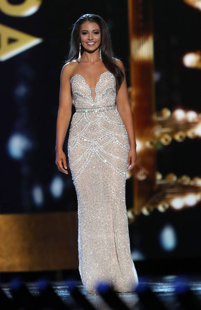2016 Miss Nevada Bailey Gumm competes in The Miss America Pageant. (Courtesy)