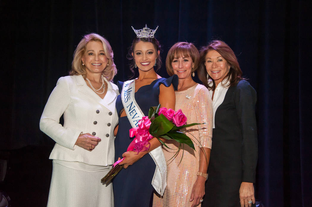 2016 Miss Nevada Bailey Gumm, second from left, at Tropicana Theater in Las Vegas. (Courtesy)