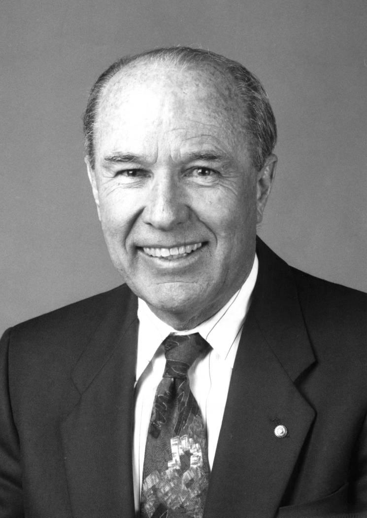 Former Boulder City mayor Bob Ferraro pictured in 1985. File Photo