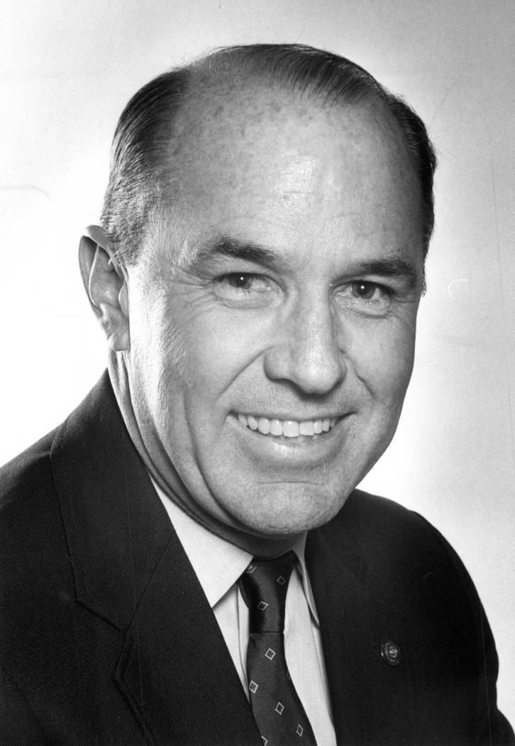 Former Boulder City mayor Bob Ferraro pictured in 1987. File Photo