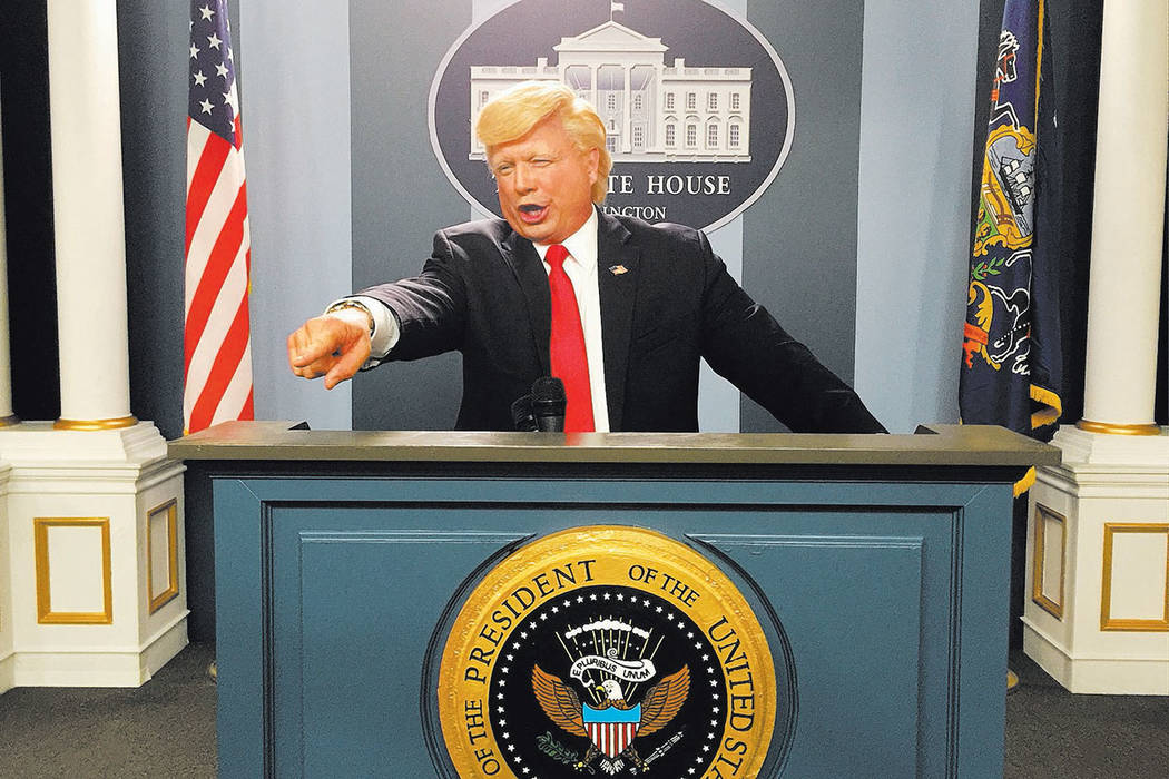 "John Di Domenico is shown playing Donald Trump in a sketch on ""Conan"" over the summer. (John Di Domenico photo)"