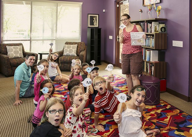 The Inspirada moms group organizes events, such as this children's reading hour. (Elke Cote/RJRealEstate.Vegas)