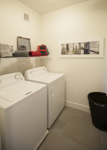 The SW apartments offer laundry facilities. (ELKE COTE-RJREALESTATE.VEGAS)