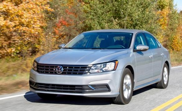 """COURTESY The 2016 Passat is VW's big """"American"""" sedan — meant for commuting on our freeways and ferrying the kids to school and repriced for extra value. With I-4 or V-6 gas engines and a  ..."""