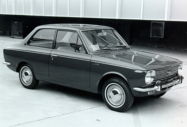 COURTESY The Toyota Corolla continues to be a popular model 50 years since in debut. Shown here is a 1969 Corolla.