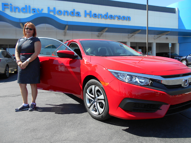 Attractive COURTESY Findlay Honda Henderson Sale Consultant Cathy Boyd Is Seen With  The 2016 Honda Civic,