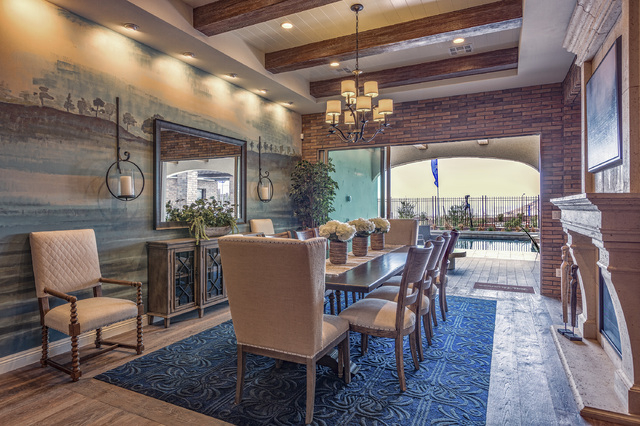 DAVID REISMAN/RJRealEstate.Vegas Toll Brothers' luxury Summerlin neighborhood, Los Altos, has new-home models designed to showcase indoor-outdoor living options with flooring that extends for indo ...