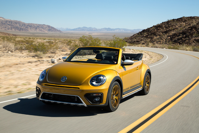 COURTESY The sporty 2016 VW Beetle Convertible lets you drop the top and your inhibitions.