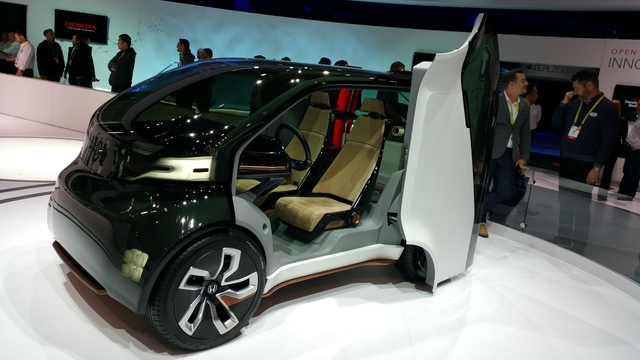 COURTESY STAN HANEL Honda NeuV concept car is being developed to combine an electric motor drive train with connected telecommunications and autonomous driving capabilities that can supplement rid ...