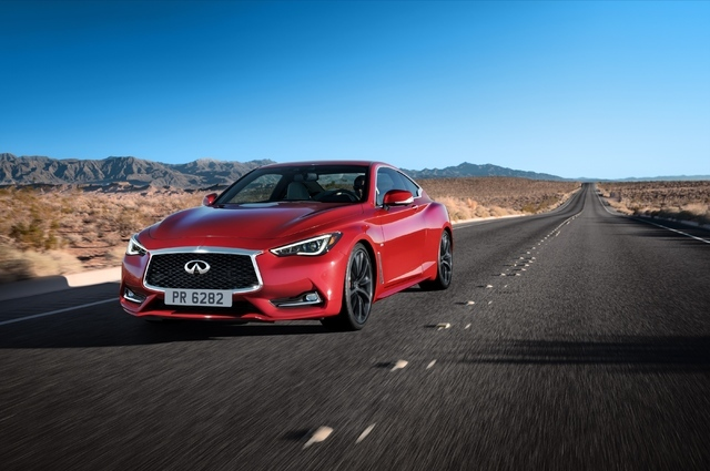 COURTESY The 2017 Infiniti Q60 coupe arrives this September at Park Place Infiniti, 5555 W. Sahara Ave., with a celebrated and all-new V6 twin-turbo 400-horsepower engine that promises peak perfor ...