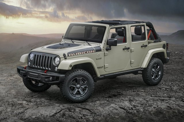 COURTESY The new edition 2017 Jeep Wrangler Rubicon Recon will be available for off-road enthusiasts this month at Chapman Chrysler Jeep in the Valley Automall.