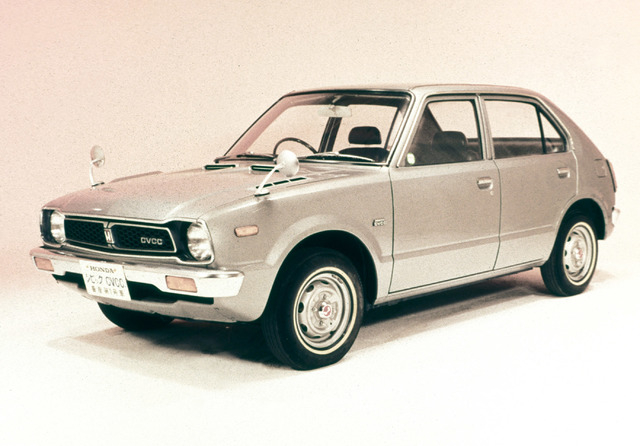 COURTESY The Honda Civic is more than 40 years old. Shown here is a 1973 Civic 1500.