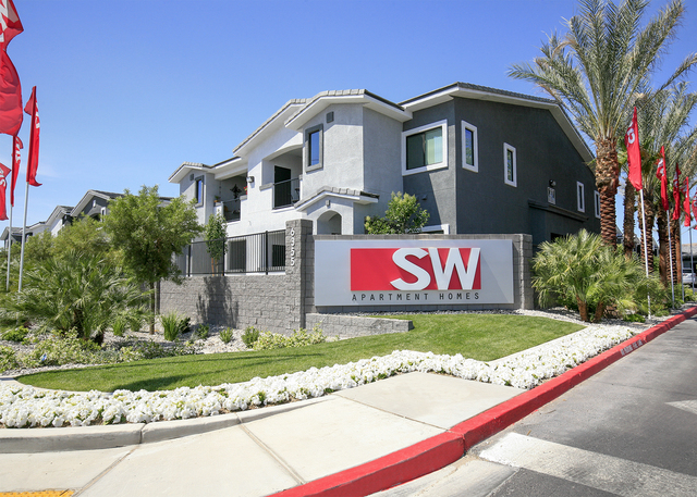 The SW apartments opened in November at the 215 Beltway at South Durango Drive. (ELKE COTE-RJREALESTATE.VEGAS)