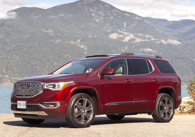 COURTESY GMC The All Terrain model of the Acadia is specially equipped for off-road duty.