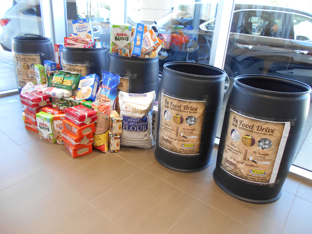 COURTESY Findlay Acura in the Valley Automall has teamed with 8 News Now for a food drive benefiting Las Vegas Rescue Mission through Aug. 26.