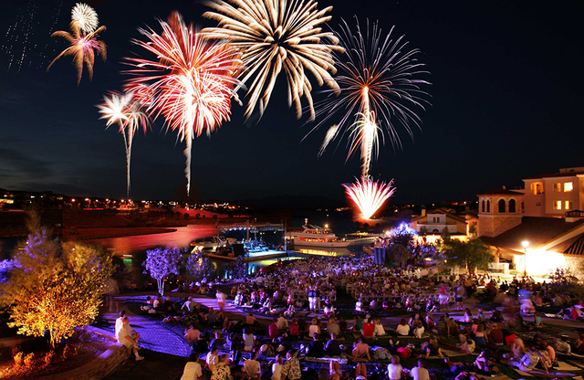 Two free fireworks shows at midnight will light the sky over the Lake Las Vegas community on New Year's Eve. (Courtesy)