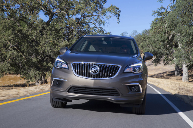 COURTESY GENERAL MOTORS The Envision's toothy grille is a common feature of other Buicks, but its styling overall is reminiscent of the larger Enclave.